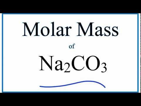 Molar Mass / Molecular Weight of Na2CO3 (Sodium Carbonate)