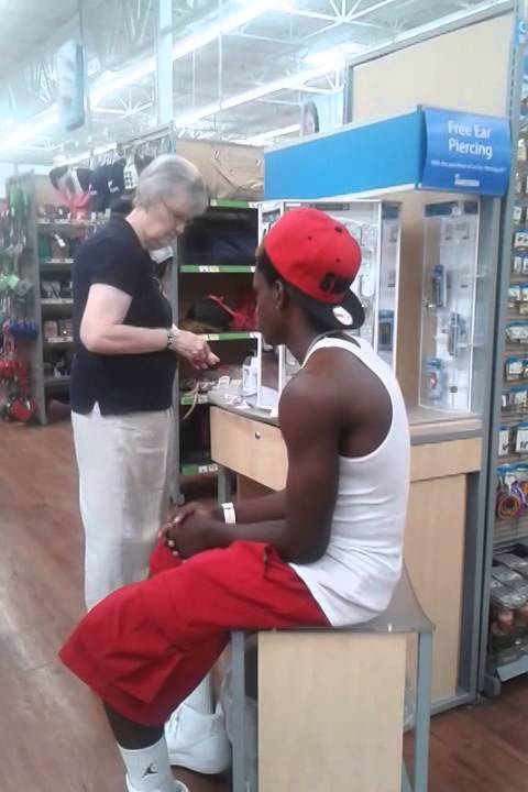 Ears Piercing At Wal Mart Youtube