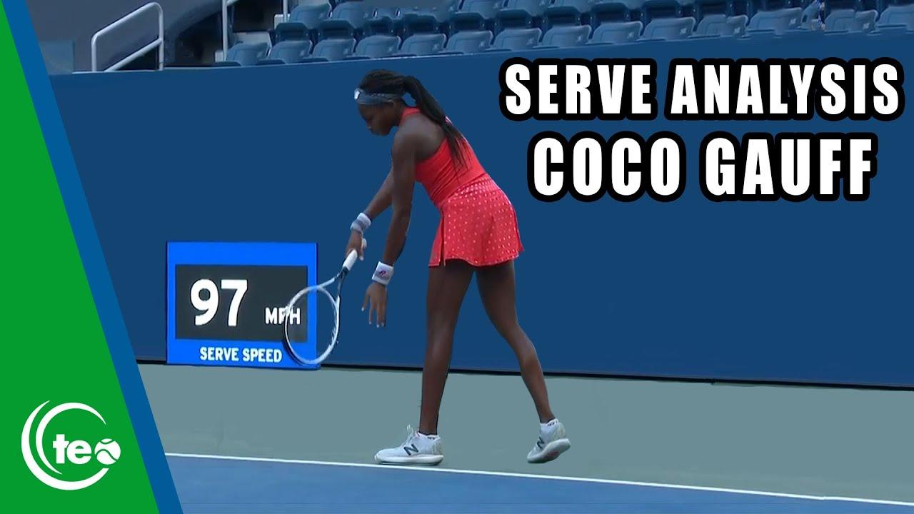Coco Gauff Serve Breakdown I TENNIS SERVE LESSON
