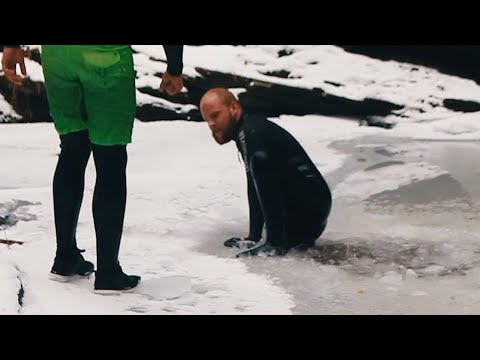 Diving Into Ice Cold Water From 100 Feet