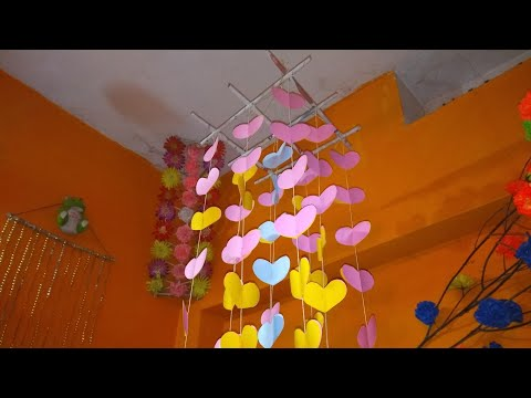 || How To Make Wind Chimes Out Of Paper || Make Wind Chimes Using Paper....