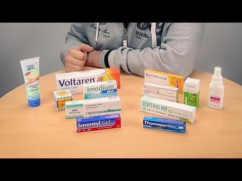 Medikamente für die Reiseapotheke