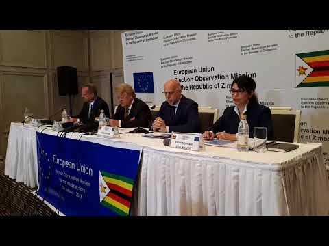 EU press conference on Zimbabwe elections