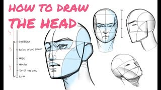 👱 Learn to Dŗaw the Head in Any Angle - Tutorial for Beginners