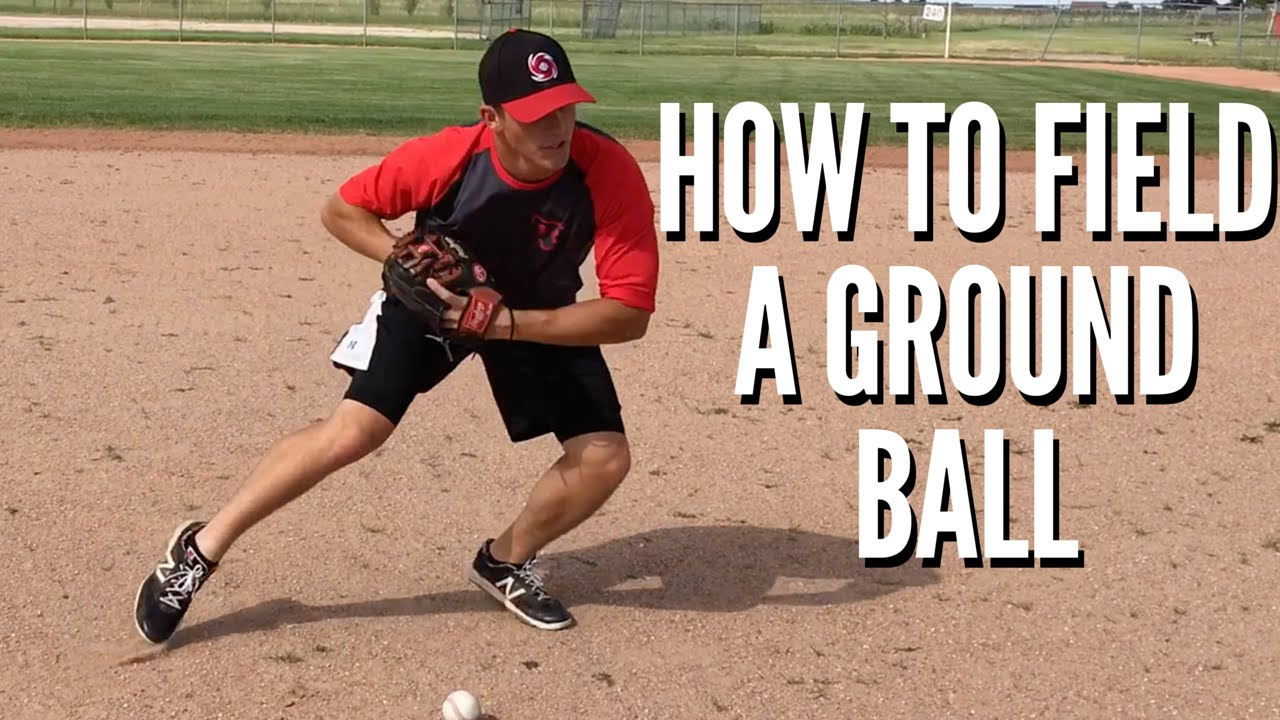 fielding a ground ball When it comes to fielding, catching a ground ball is pretty simple you set up with  your feet in a wide base, your butt down and your hands out in front the goal is.