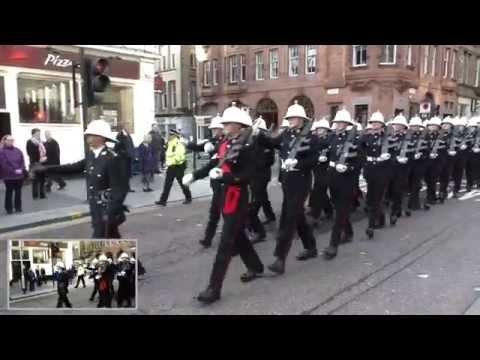 HM Royal Marines parade Glasgow 2011