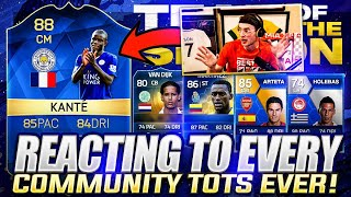 reacting to every community TOTS in FIFA HISTORY