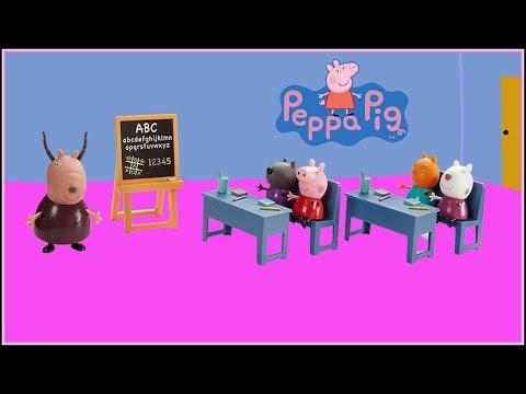 Peppa Pig´s Classroom Playset Peppa Pig Set salón de Clases - Juguetes de Peppa Pig
