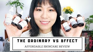 【Crystal】The Ordinary vs BFFECT Skincare Review   $10美金💰就能买到的超好用保养品   SkinLab Is BACK!! [ENG]