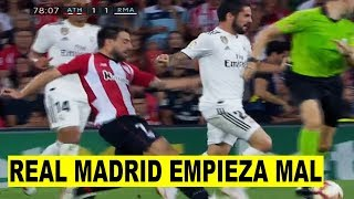 ISCO SALVA AL Real Madrid 1-1 Athletic de Bilbao PIERDE PUNTOS