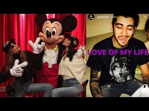 Gigi Hadid Calls Zayn The Love Of Her LIFE On Instagram & Visits Disneyland With Bella