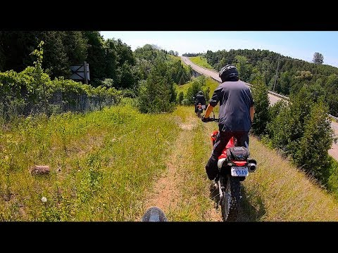 Yamaha XT250:  The Jackman Trails in Bowmanville, Ontario CANADA