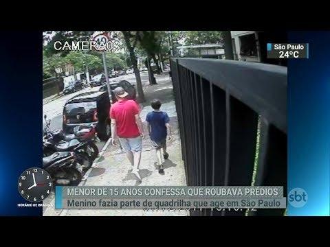 Adolescente confessa participar de quadrilha de roubo a condomínios | SBT Brasil (20/02/18)