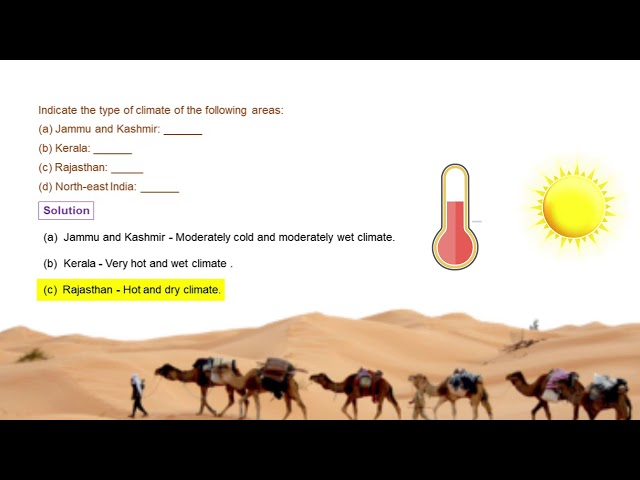 Weather, climate and adaptations - Climatic condition of India - CBSE class 7th science