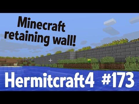 Minecraft retaining wall — Hermitcraft 4...