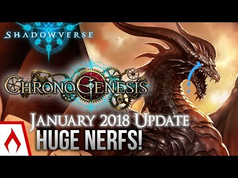 [Shadowverse] HUGE NERFS! January 2018 Balance Changes