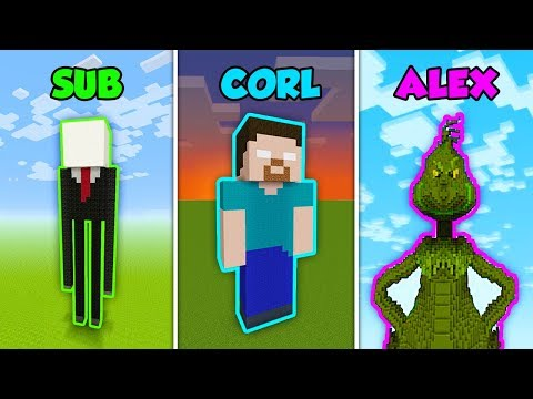 SUB vs CORL vs ALEX - WORST FEARS in Minecraft! (The Pals)