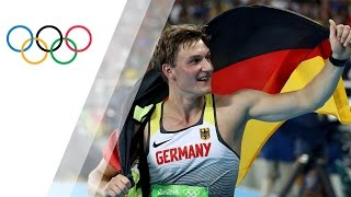 Rohler wins Germany's first javelin gold in 80 years