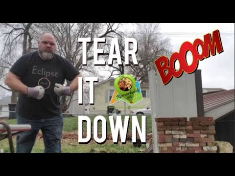 TEARING IT DOWN!  Metal Shed Removal   |  Craig & KJ
