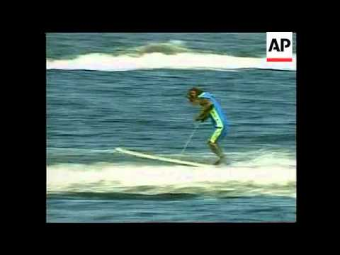 Japan - Water skiing monkeys