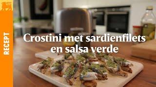 Crostini met sardienfilet en salsa verde