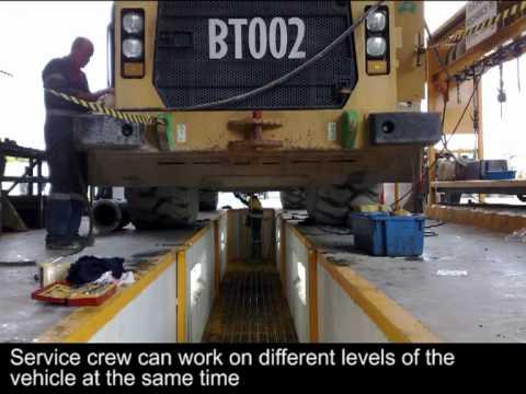 Elevating Work Platform Ewp In Mechanics Pit 2012