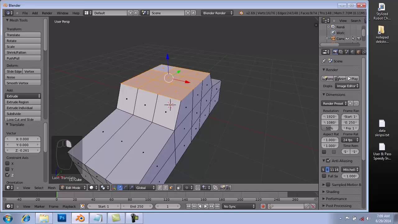 Membuat Animasi Mobil Dengan Blender Medsos Kini