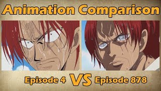 One Piece - Episode 4 VS Episode 878 | Animation Comparison