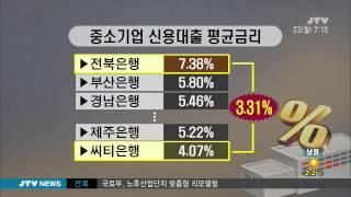 [JTV 아침뉴스] 중소기업 금리 높은 전북은행