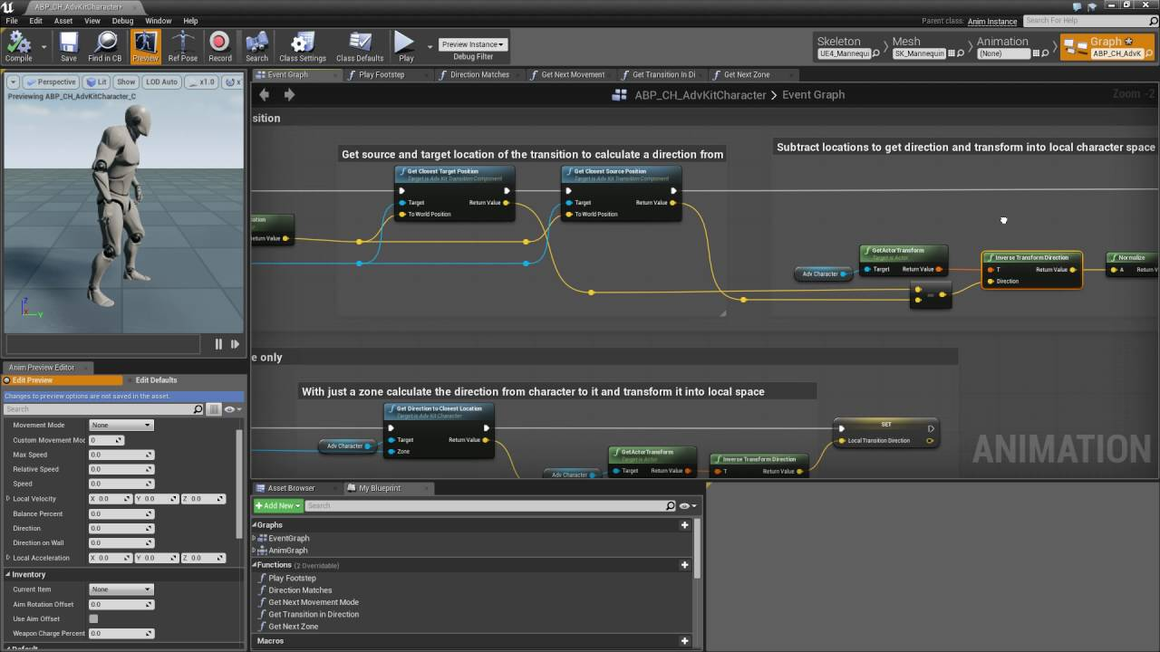 Ue4 adventure kit v20 integration tutorial 08 anim blueprint ue4 adventure kit v20 integration tutorial 08 anim blueprint event graph youtube malvernweather Images