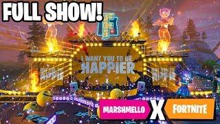 FULL MARSHMELLO FORTNITE SHOW! MARSHMELLO SHOWTIME EVENT FULL CONCERT