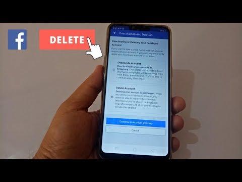Delete facebook on mobile app