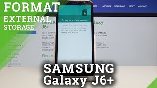 How to Format the SD card on Samsung Galaxy J6 Plus - Erase All Data
