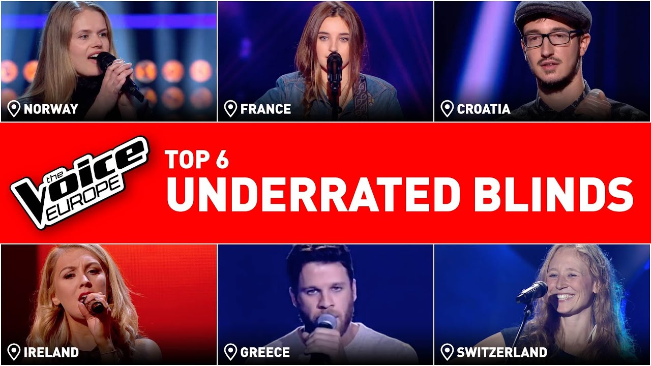 The most UNDERRATED Blind Auditions in The Voice from Europe | TOP 6