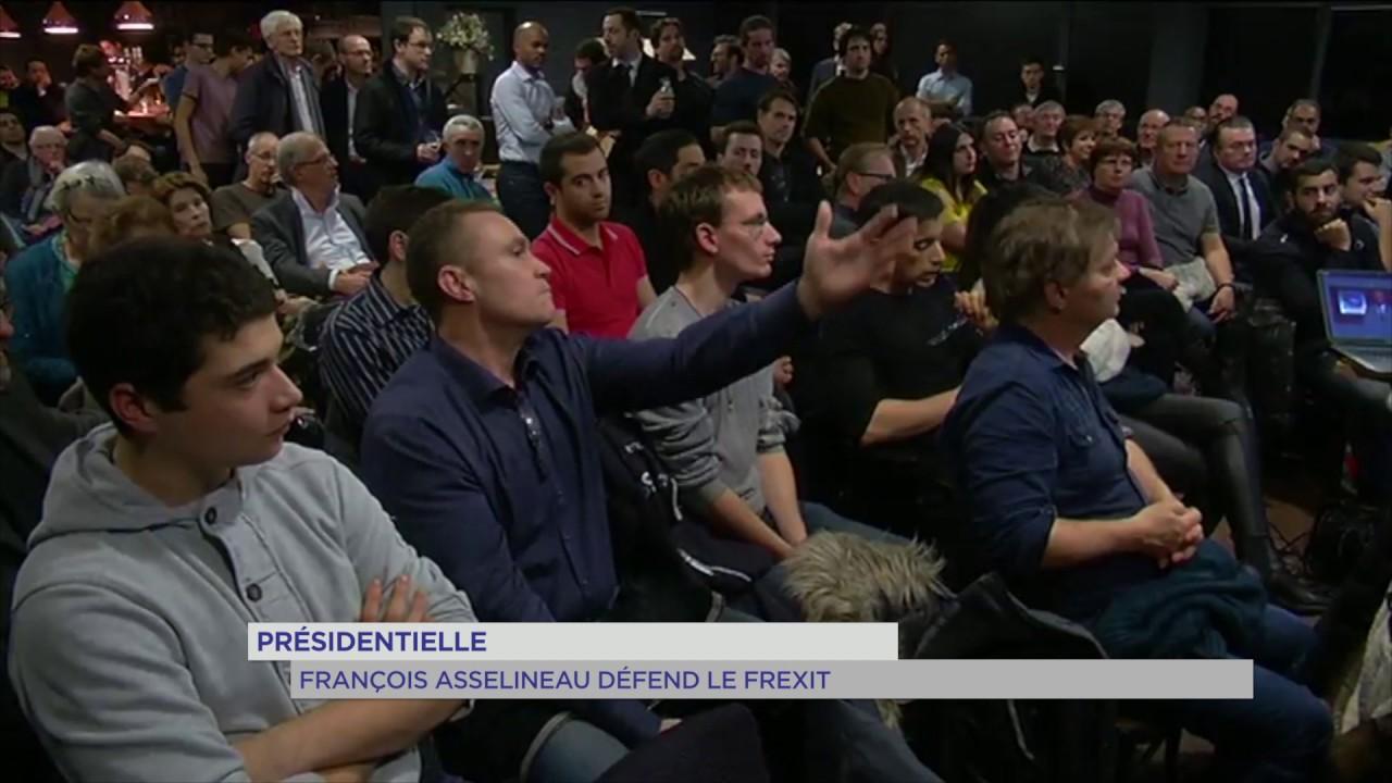 """Présidentielle : François Asselineau (UPR) défend le """"Frexit"""""""
