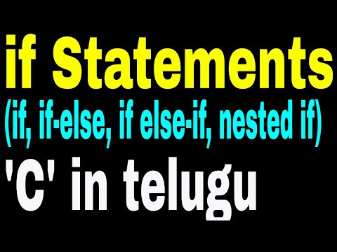 Decision Making using If statements in C Language in telugu