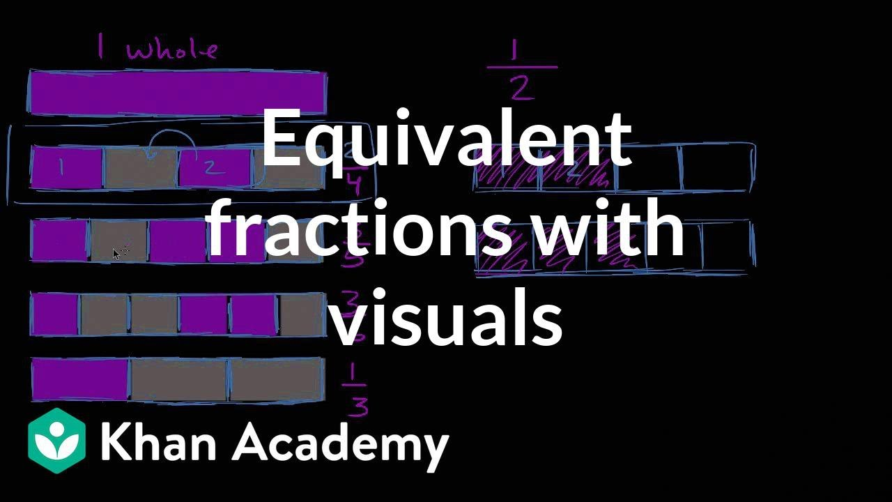 Equivalent fractions with visuals (video) | Khan Academy