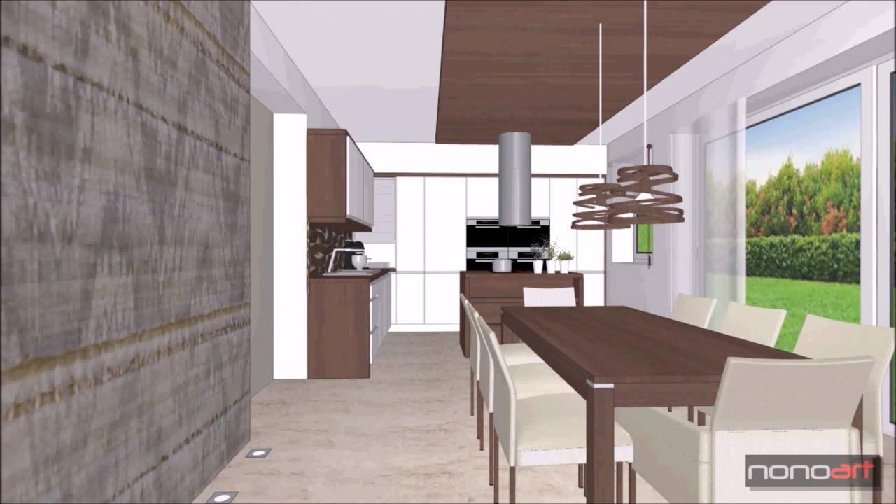 Modern Természetes Konyha-Étkező-Nappali, Lakberendezés - YouTube