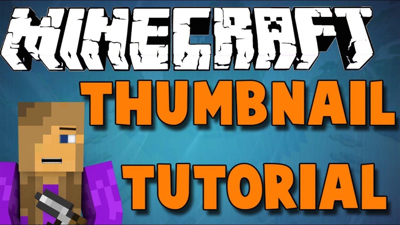 How to create a Minecraft thumbnail free (Mac) HD - YouTube