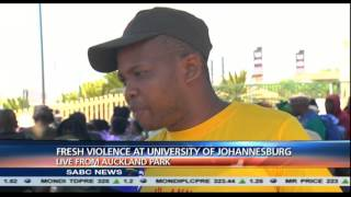 Violence at University of Johannesburg: Chriselda Lewis reports