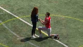 Ohio State Punter Drue Chrisman Gets Engaged During 2019 Spring Football Game | B1G Football