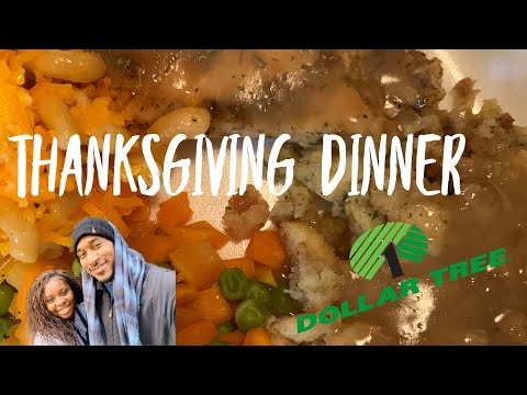 THANKSGIVING DINNER USING DOLLAR TREE FOODS ONLY