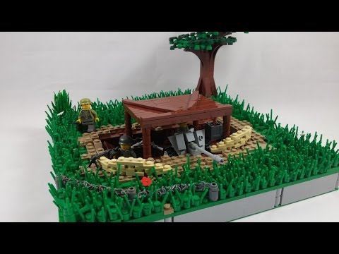 LEGO WW2 German PaK Bunker MOC   HD
