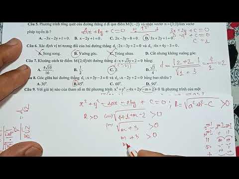 2021 - ôn tập hình học 10 học kì 2  đường thẳng và đường tròn