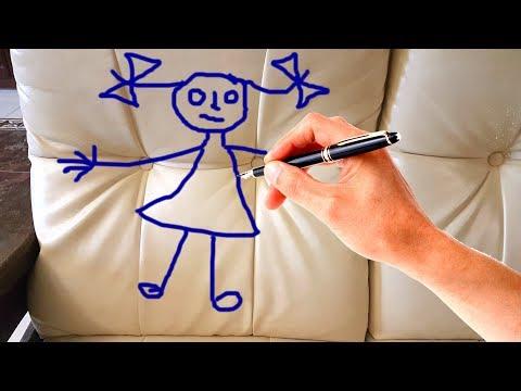 Как отмыть кожаный диван от шариковой ручки