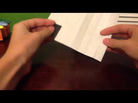 Origami Checkerboard Page Marker Youtube