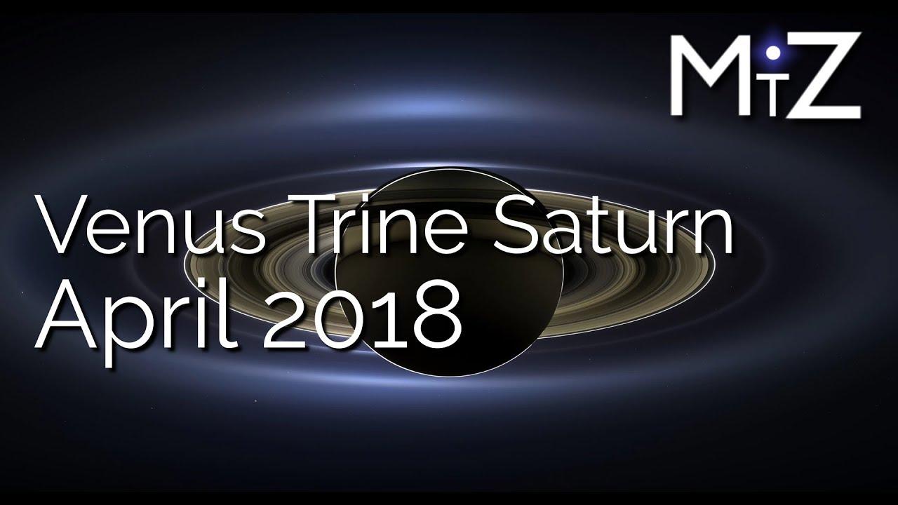 Venus Trine Saturn April 6th 7th & 8th, 2018 - True Sidereal Astrology