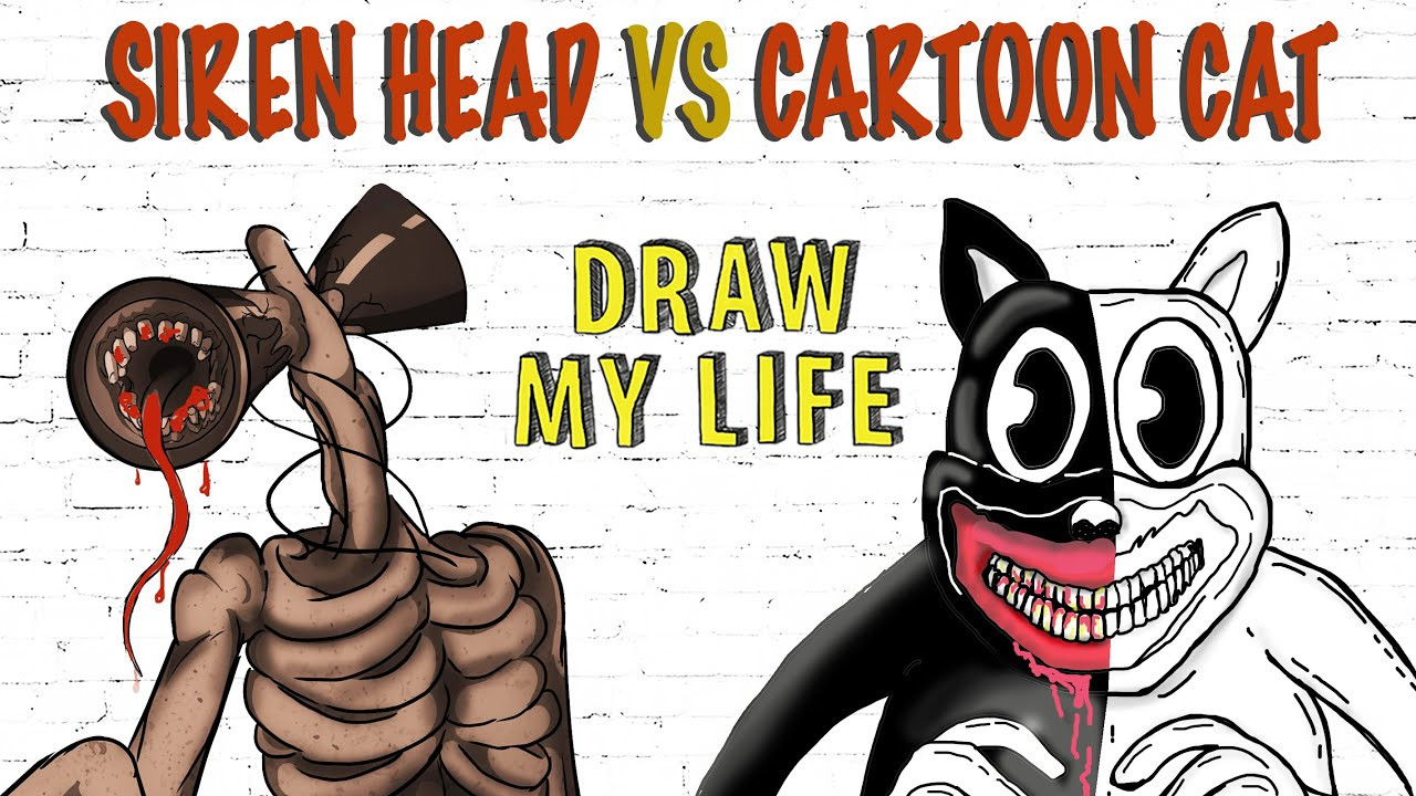 Siren Head Vs Cartoon Cat Draw My Life Youtube