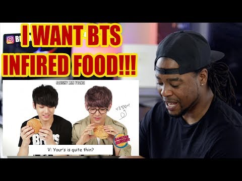 BANGTAN EATING | BTS INFIRED FOOD!!! | REACTION!!! - YouTube