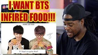 BANGTAN EATING | BTS INFIRED FOOD!!! | REACTION!!!